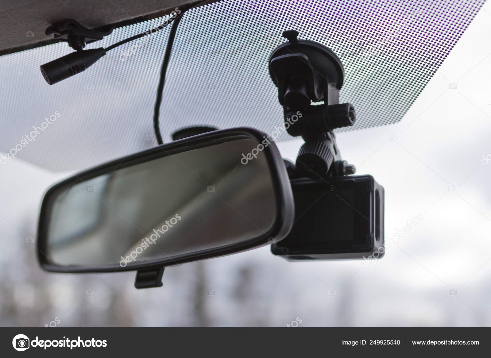 Car security camera in car for safety on an accident, technology concept